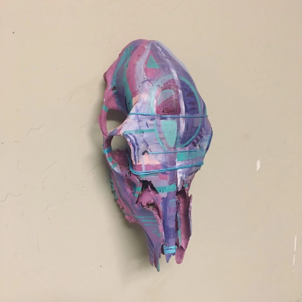 Painted Deer Skull Art