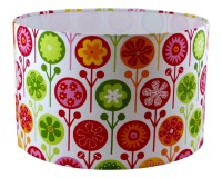 Items similar to Lamp shade 20cm drum Stanley dog fabric ...