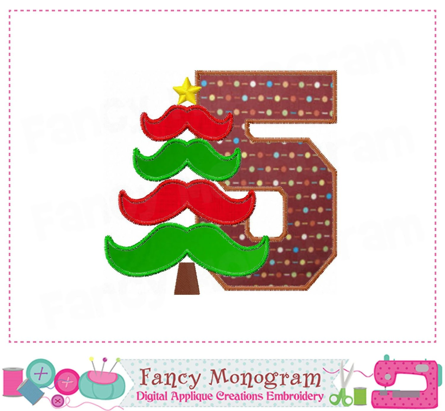 Christmas Tree Number 5 Appliquemy 5th Christmasmy 5th