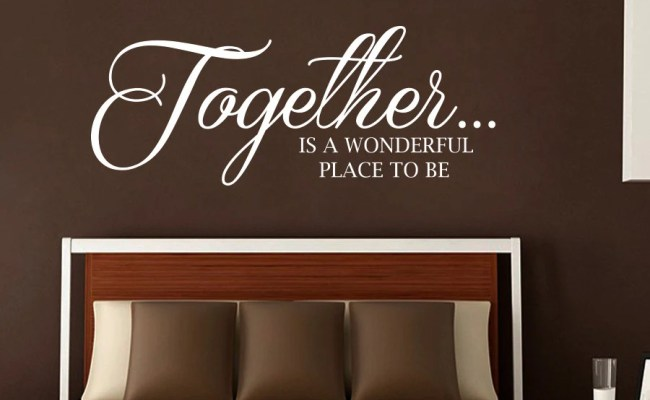New Wall Decals Quote Together Is A Wonderful Place To Be