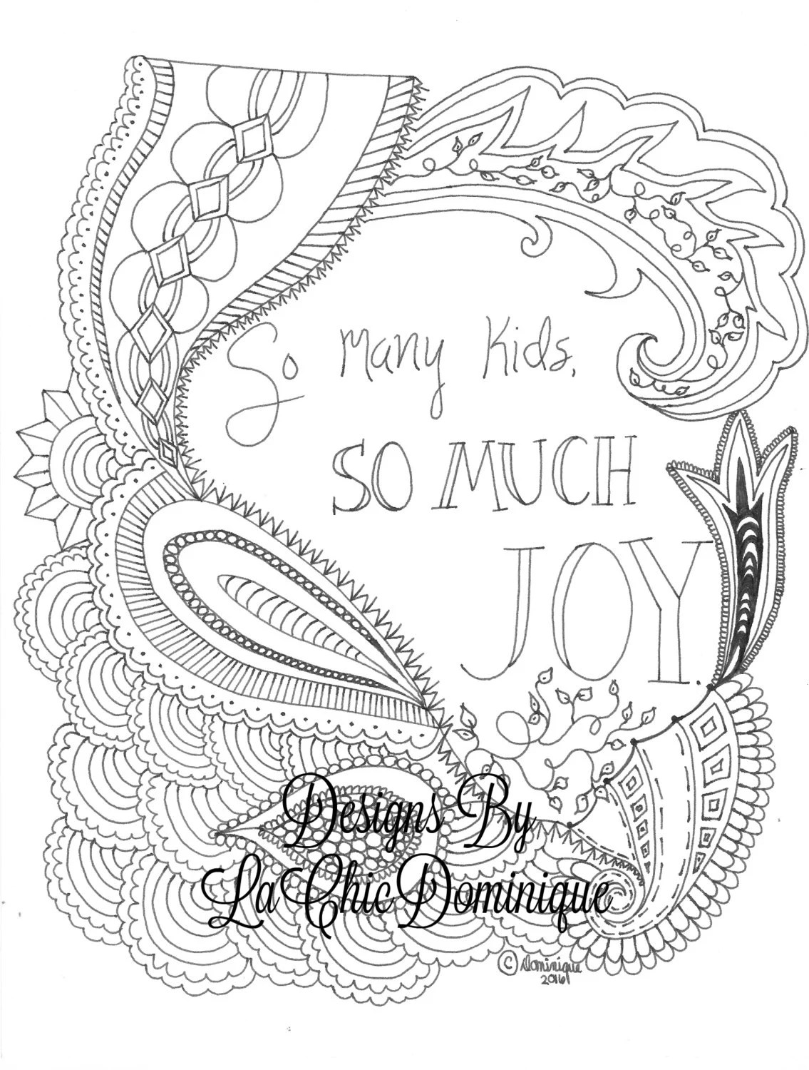 Inspirational Religious Faith Adult Coloring Page Digital