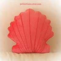 Scallop Shell Shaped Pillow Seashell Pillow Toy Pillow 3D