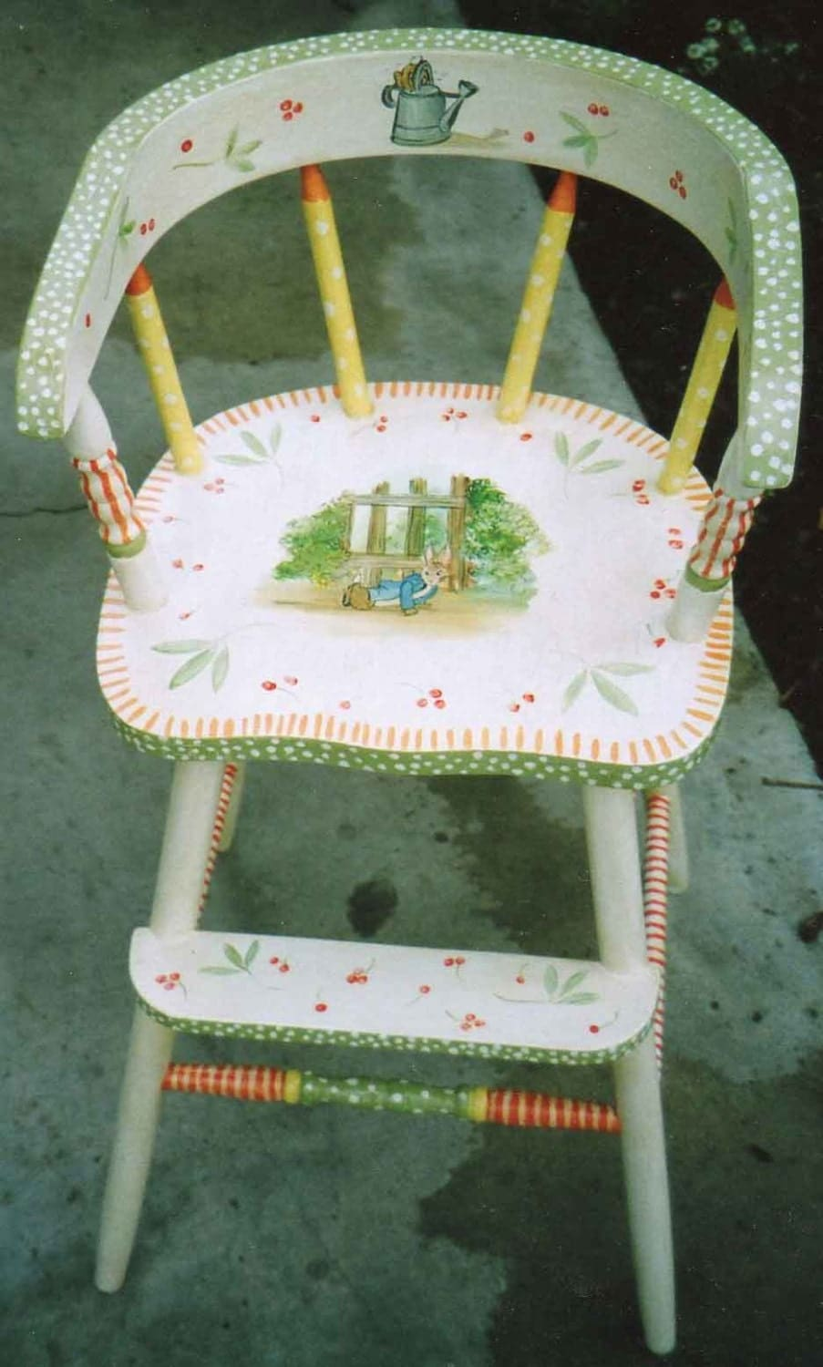 storybook youth chair hand painted kids furniture painted