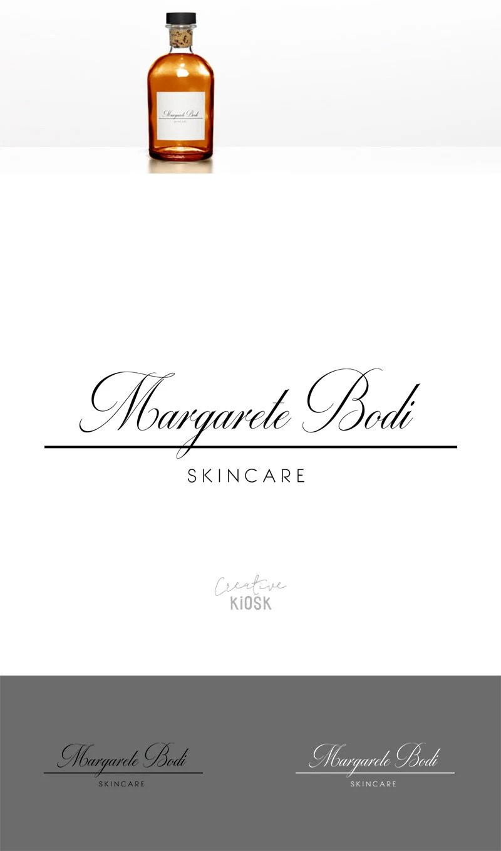 Simple Skincare Label Logo Design. Instant Download Logo. PSD