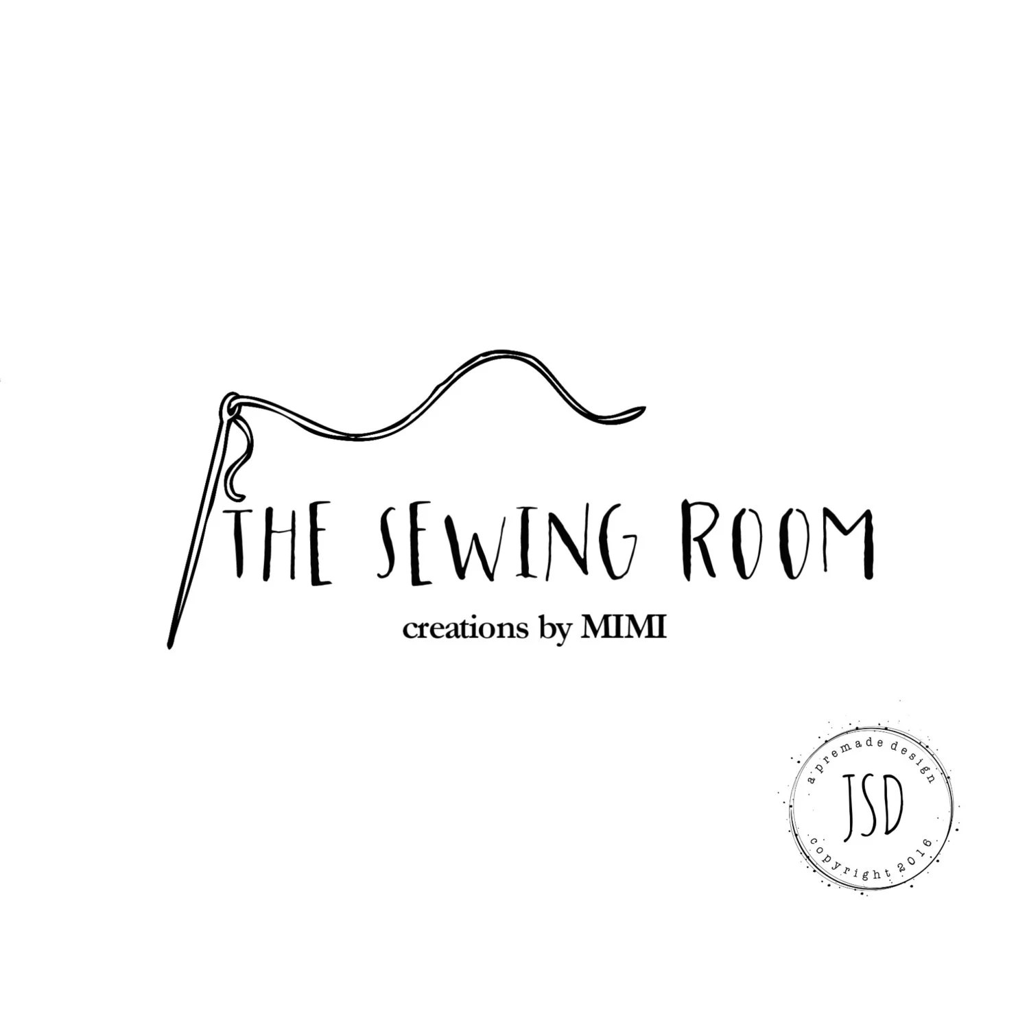 Sewing Logo-Small Business Logo-Craft Logo by