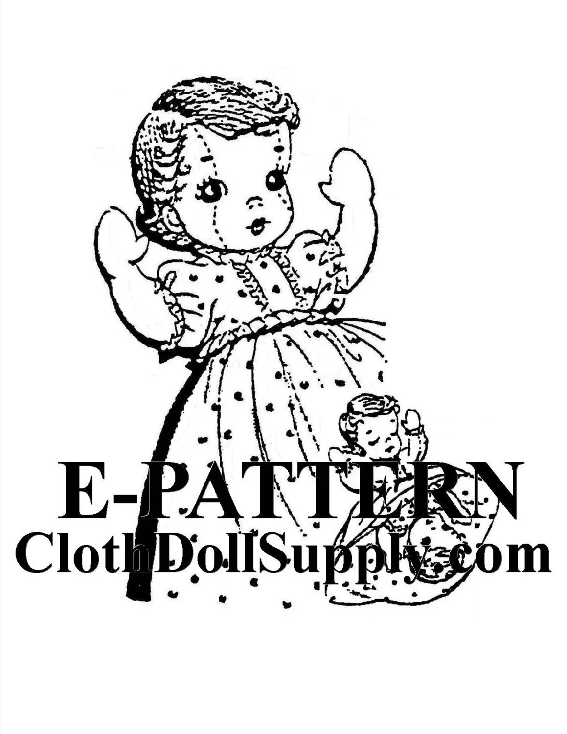 E-Pattern Topsy Turvy Doll Sewing Pattern EP 807