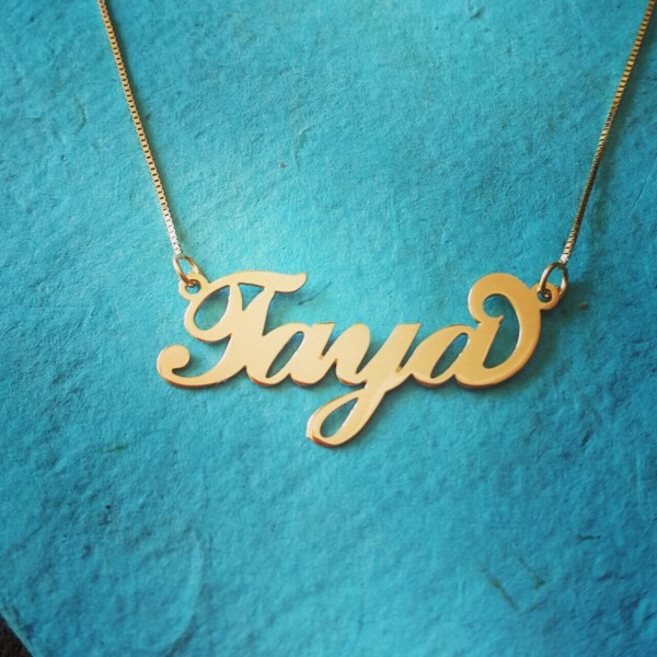 14k Gold Necklace Personalized Chain Solid