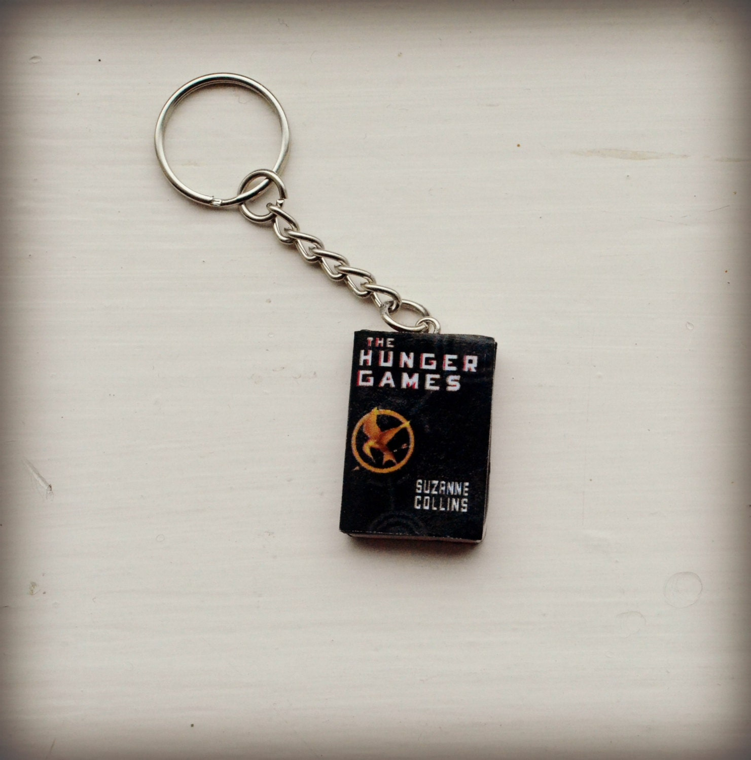 The Hunger Games Mini Book Keyring Key Chain