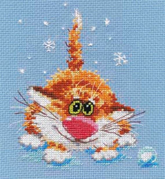 A Brand New Counted Cross Stitch Kit The First