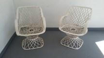 Russell Woodard Spun Fiberglass Chair Mid Century