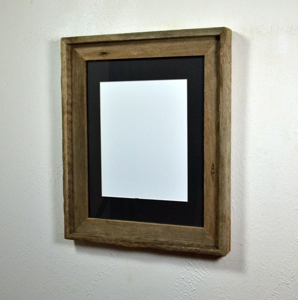 11x14 Reclaimed Wood Frame With Mat 8x10 8x12