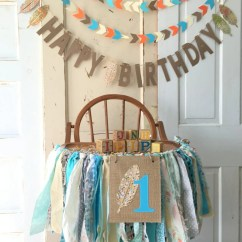 High Chair Decorations 1st Birthday Boy Best Gaming Office First Boys Banner