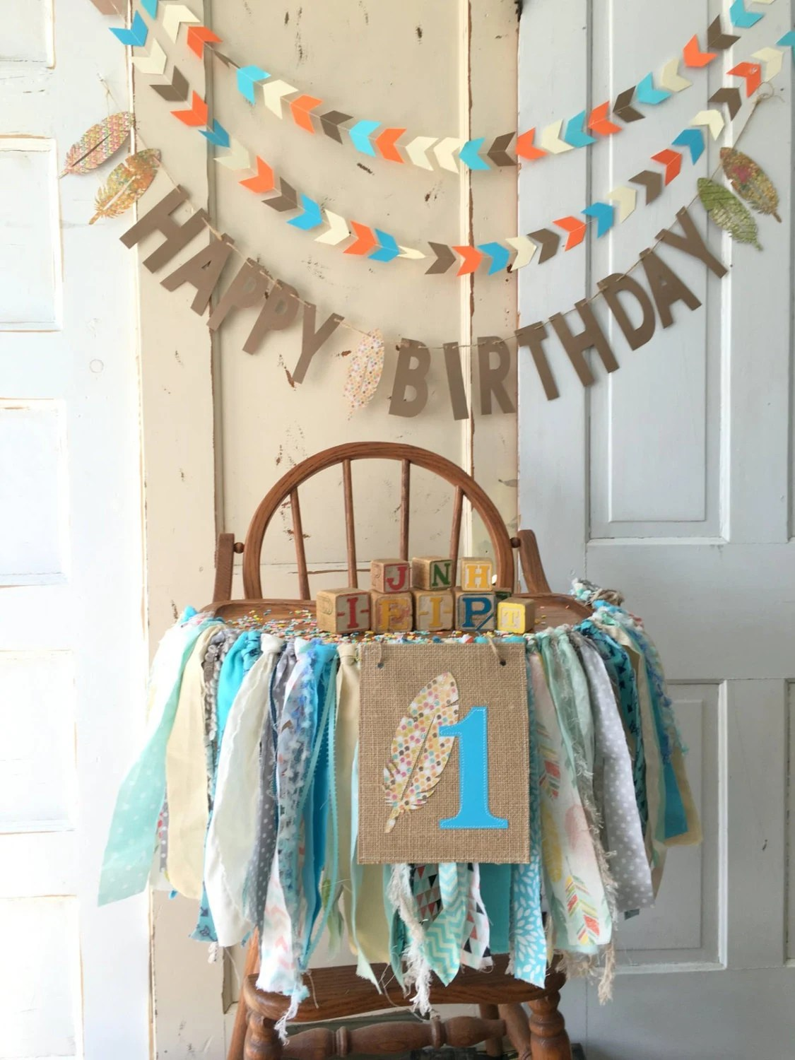 High Chair For Baby Boy First Birthday Boys High Chair Banner Boys High Chair Banner