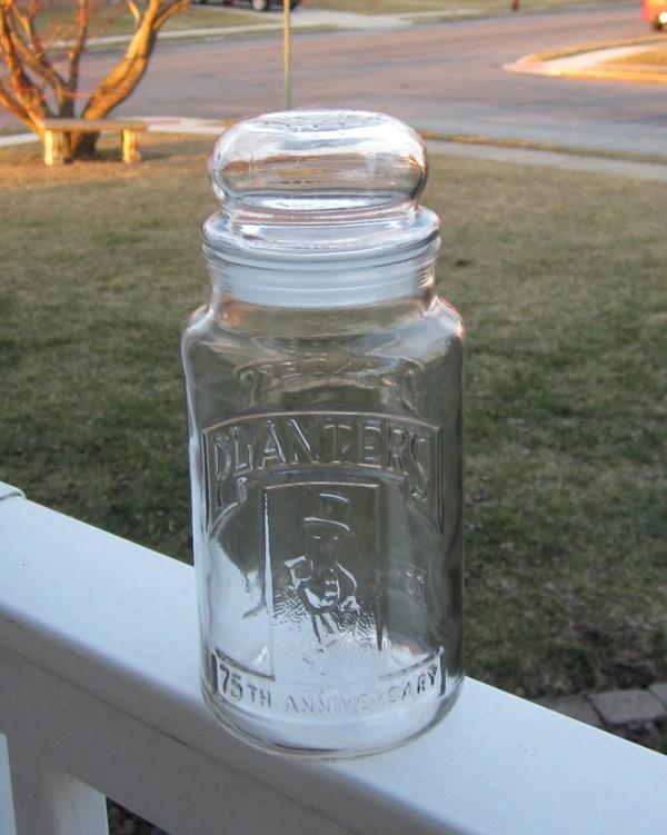 Vintage Planters Peanut Jar With Bubble Lid 75th Anniversary