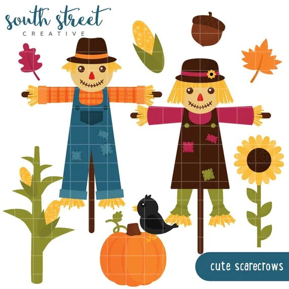 scarecrows fall sunflower cute