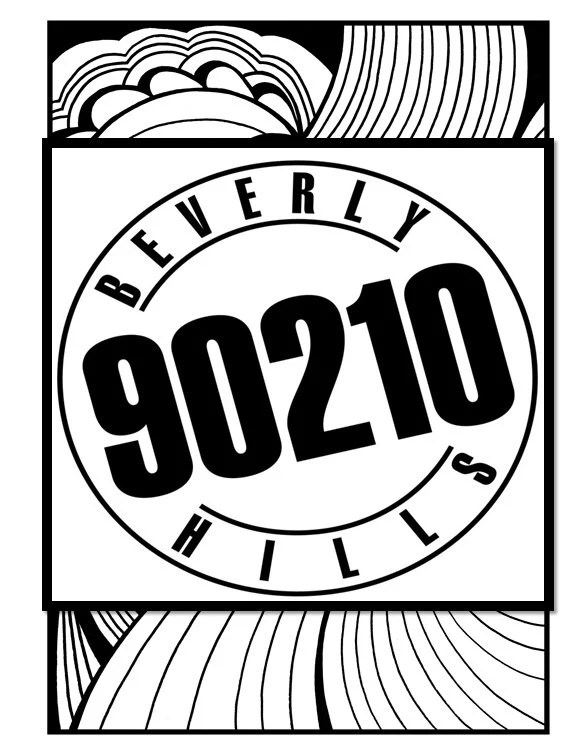 Beverly Hills 90210 Coloring Book // Instant Printable Digital