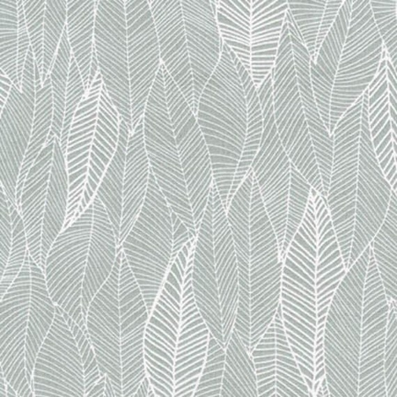In The Bloom Valori Wells Gray Feather Fabric Cotton by