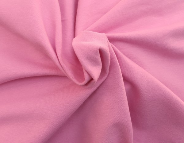 Pink Cotton Spandex French Terry Knit Fabric Yard 4