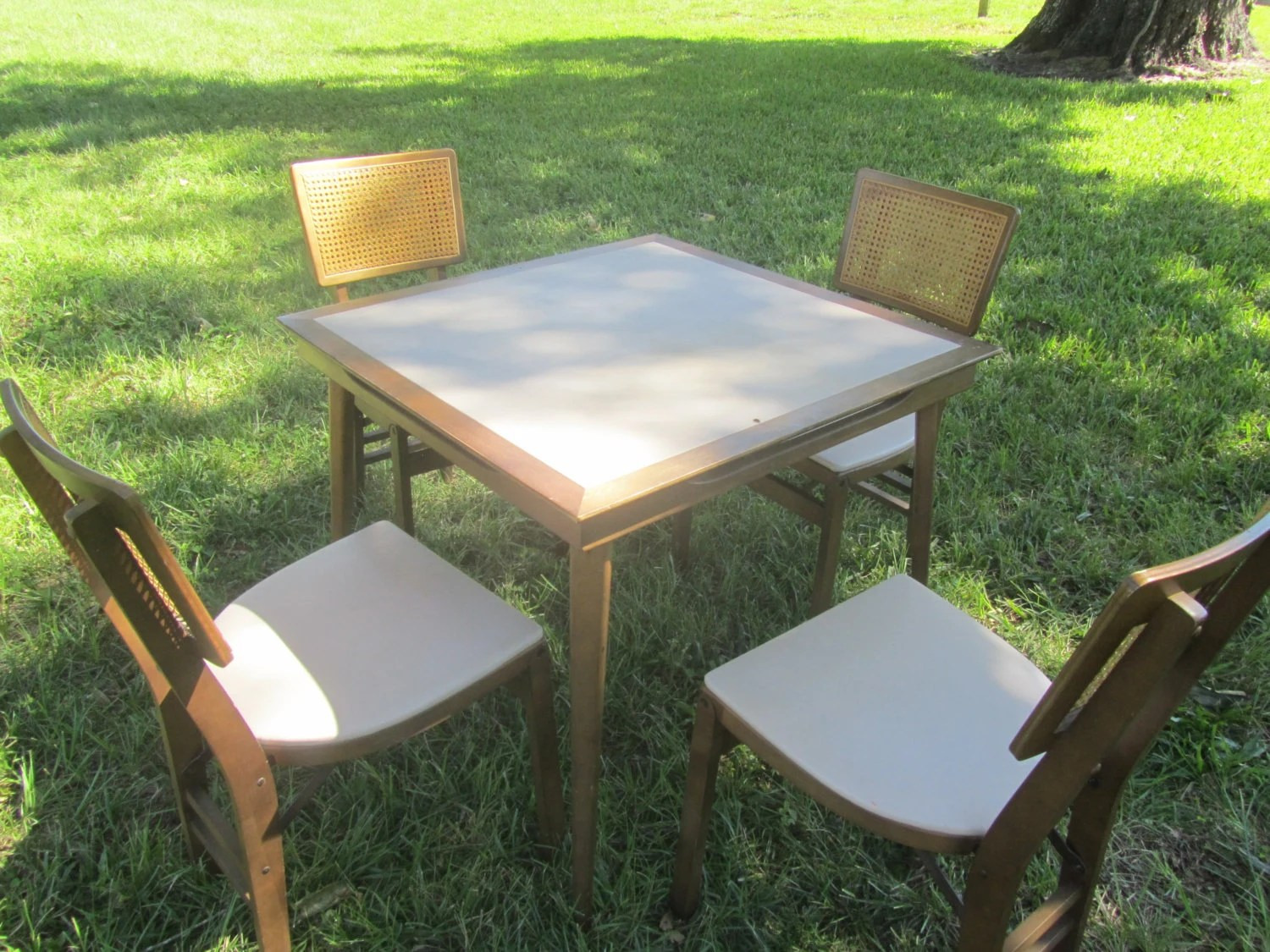 card table and chairs wooden potty chair folding stakmore furniture