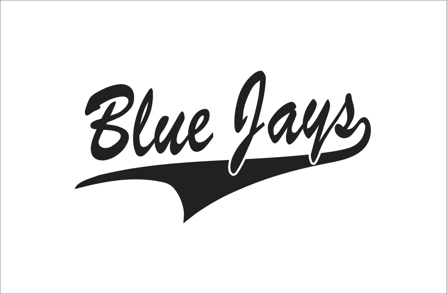 Blue Jays baseball tail writing instant by ShoogzSensations
