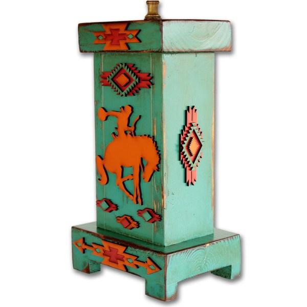 Western Lamp Southwestern Wood Desk Table Rustic