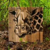 GIraffe art Giraffe decor Giraffe painting African wall art