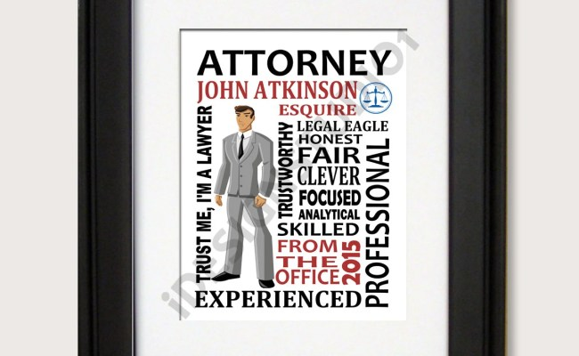 Personalized Attorney Gift Boss Day Gift Lawyer Gift