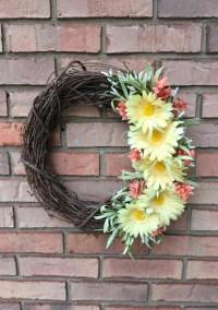 Wreath Front Door Rustic Wreath Spring Decorations Fall
