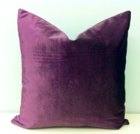 Plum Velvet Throw Pillow Dark Lilac Pillow Purple by ...