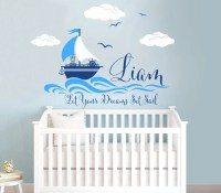 Nautical Themed Personalized Custom Name Vinyl Wall Decal