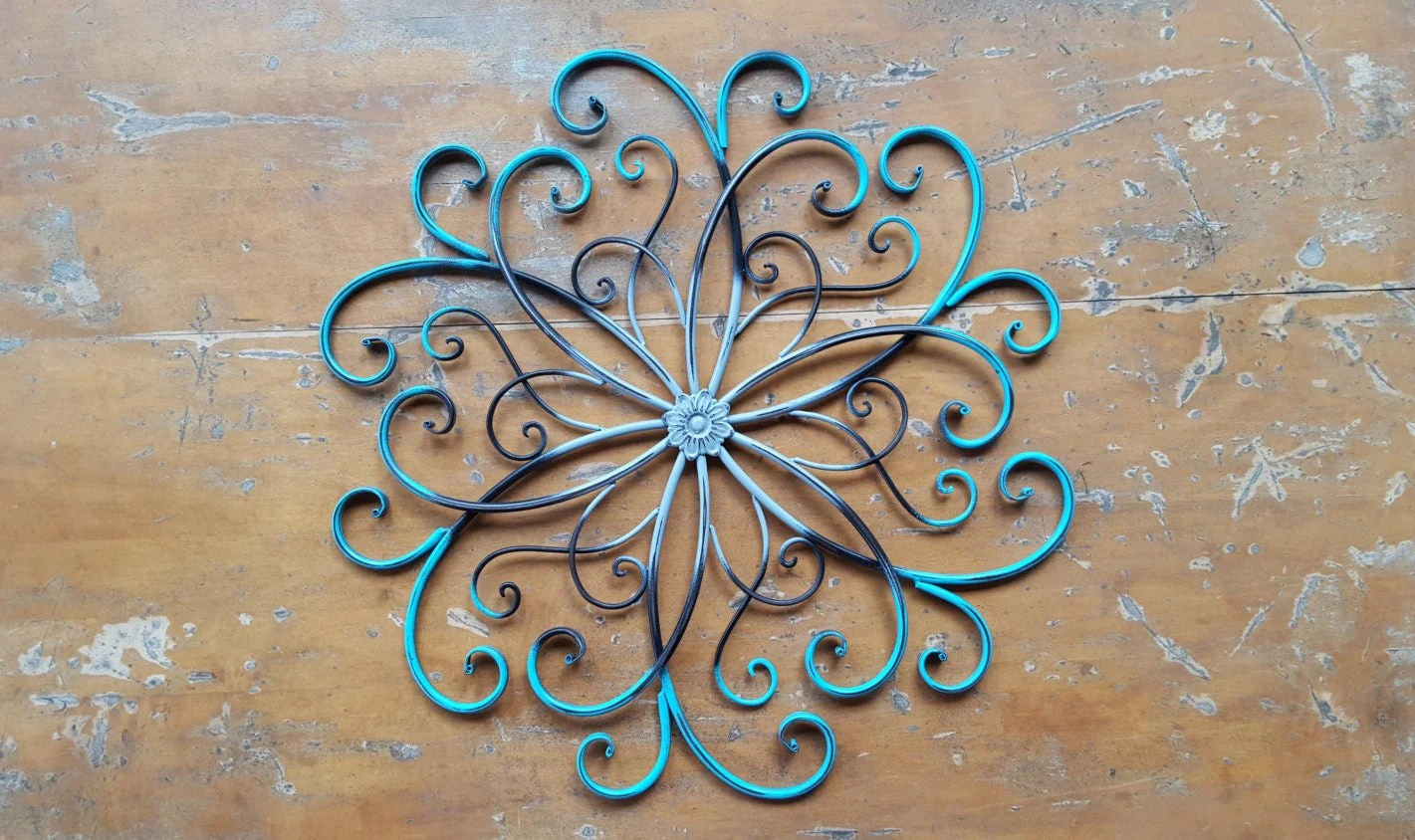 Large Metal Wall Art / Large Wrought Iron Wall Decor