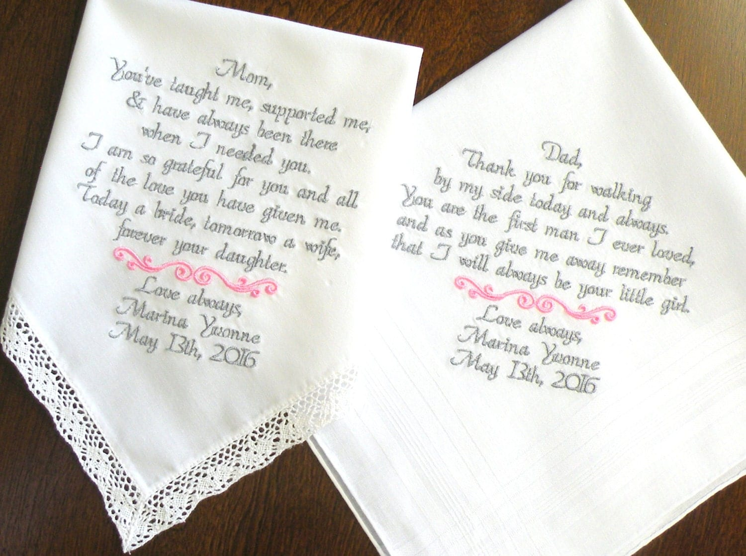 Mom And Dad Wedding Gift Mother Of The Bride Father Of The