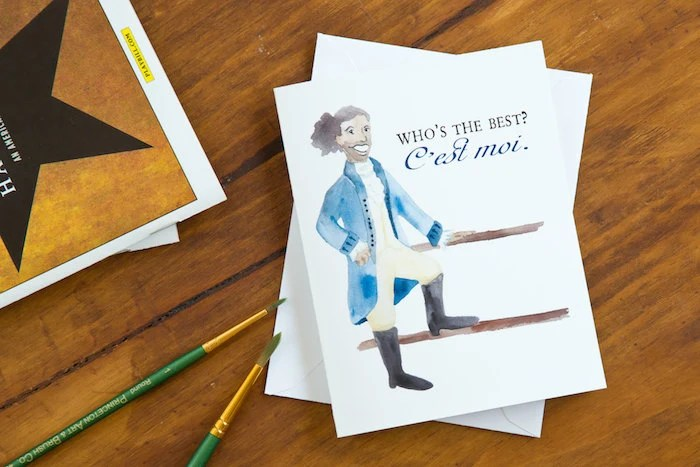 Hamilton Greeting Card Lafayette Whos The Best