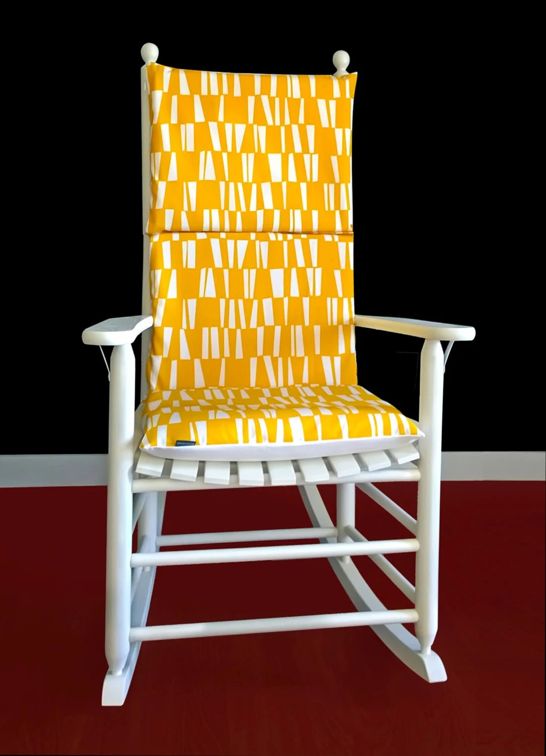yellow rocking chair convertible bed bamboo pattern cover