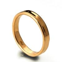 Simple Gold Wedding Band 18k Rose Gold Ring 18k Gold Band