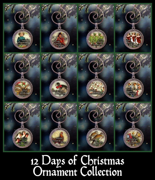 12 Days Of Christmas Ornament Collection Twelve Xmas