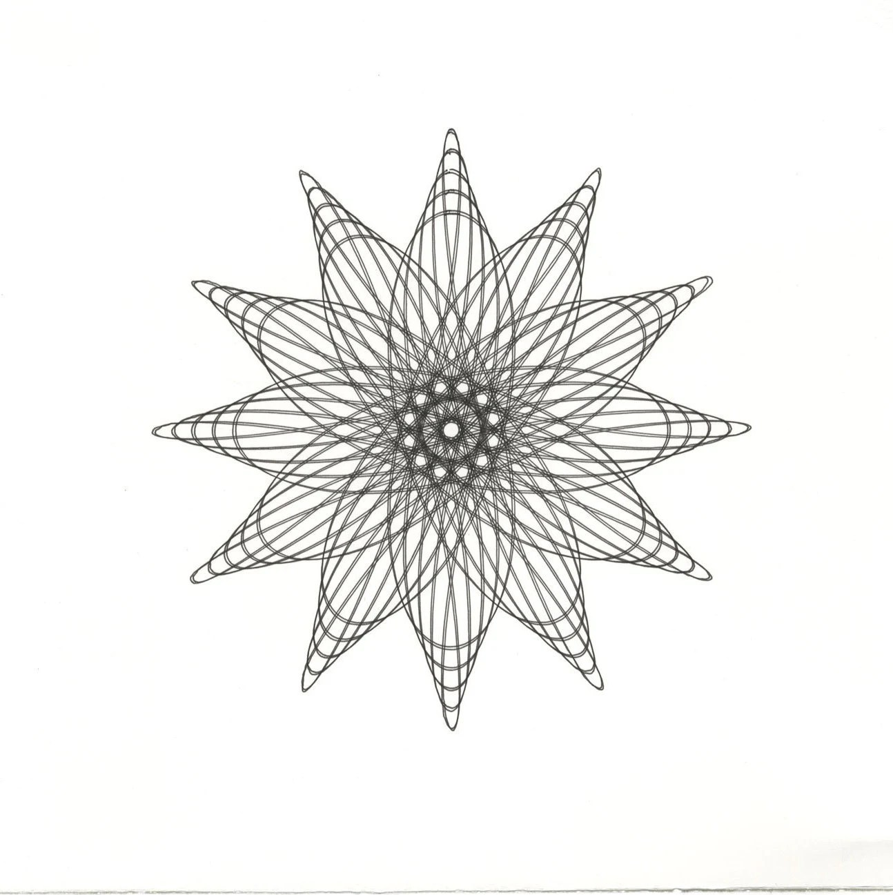 Items similar to Flower Line Drawing, Original ink Drawing