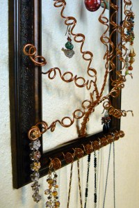 Jewelry Trees Beautiful Unique & Functional Wall Art Brown
