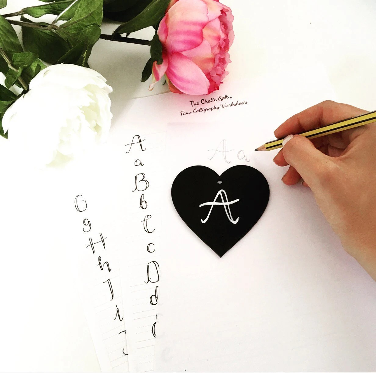 Faux Calligraphy Worksheets