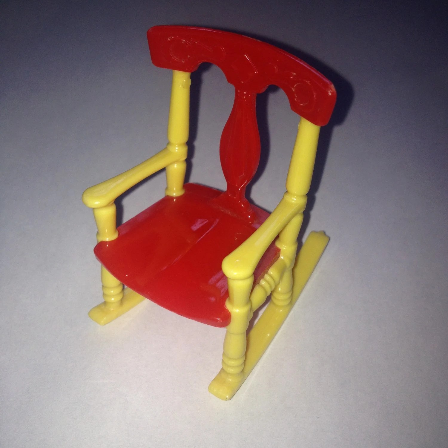 Plastic Rocking Chair Renwal Rocking Chair Vintage Plastic Dollhouse Furniture