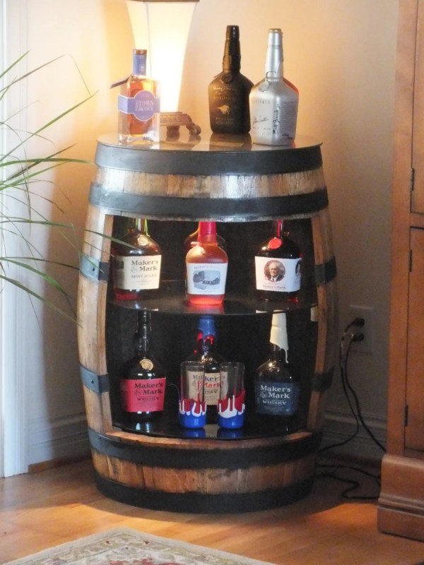Bourbon Barrel Displays