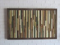Wood Wall Art Reclaimed Wood Art Painting on Wood Unique