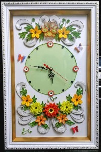 Items similar to Quilling 3D Wall Art Clock,Home Decor ...