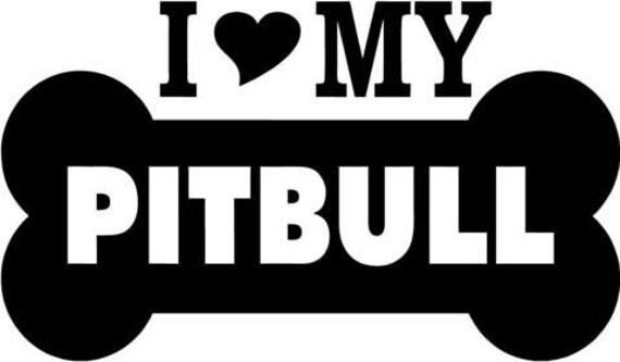 Download Items similar to I love my Pitbull SVG file on Etsy