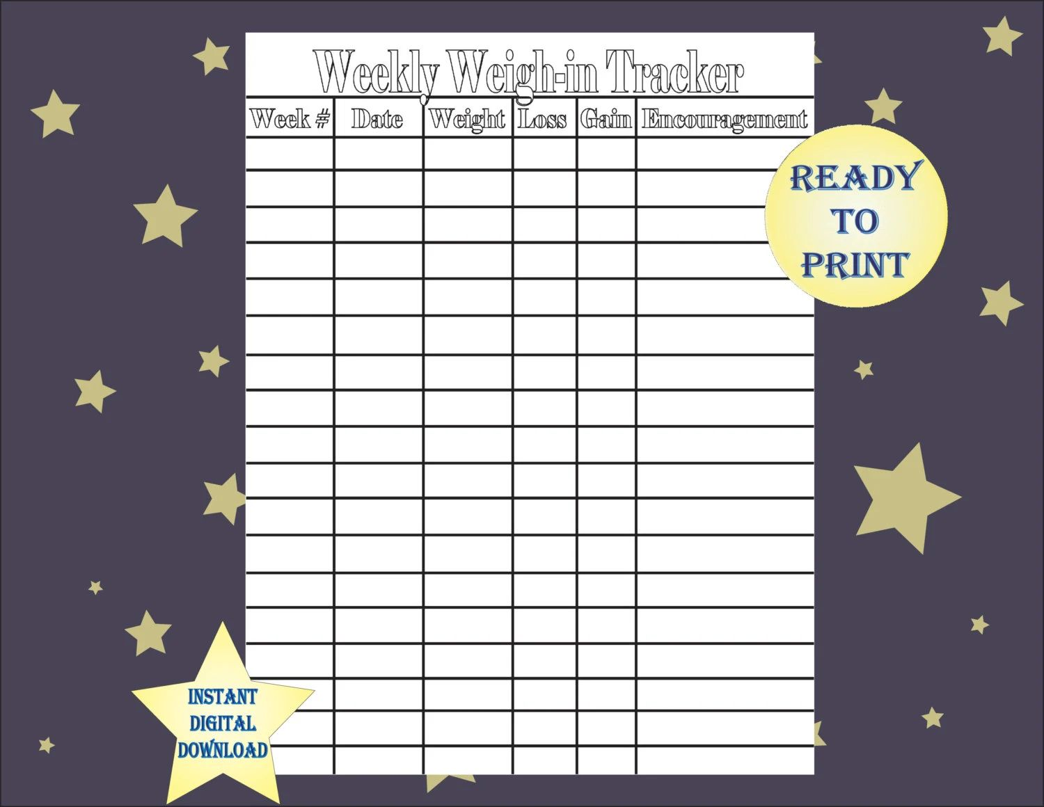 weight loss tracking
