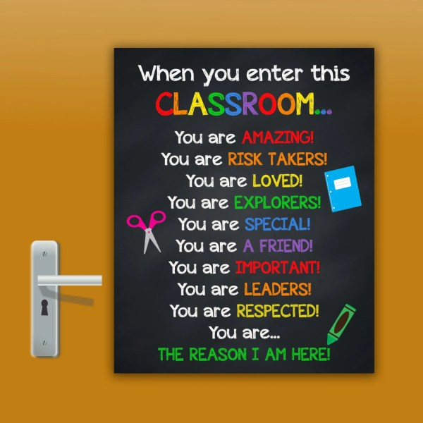 Teacher Classroom Door Sign