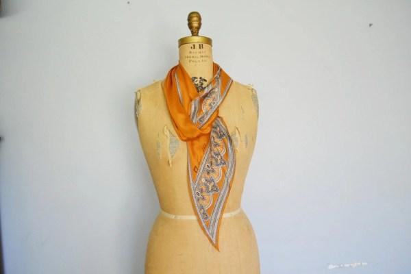 Vintage Anne Klein Silk Long Scarf