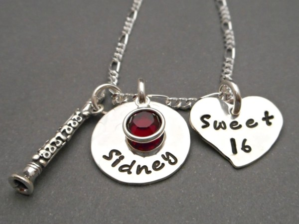 Custom Sweet 16 Necklace Personalized Clarinet Charm