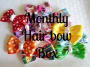 girls hair bows monthly bow