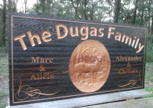 Custom Outdoor Sign Family Personalized